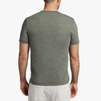 James Perse Melange Tech Jersey Tee Back Evergreen $95