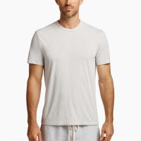 James Perse Melange Tech Jersey Tee Cloud $95