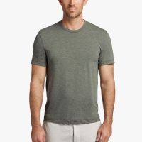 James Perse Melange Tech Jersey Tee Evergreen $95