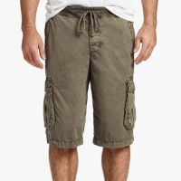 James Perse Stretch Poplin Cargo Short Army Green Pigment $175