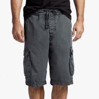 James Perse Stretch Poplin Cargo Short Carbon Pigment $175