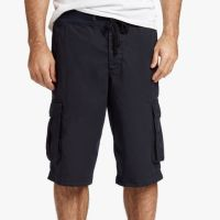 James Perse Stretch Poplin Cargo Short French Navy $175