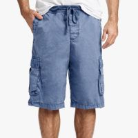 James Perse Stretch Poplin Cargo Short Reflex Pigment $175