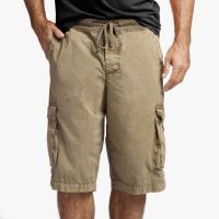 James Perse Stretch Poplin Cargo Short Vicuna Pigment $175