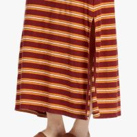 James Perse Vintage Stripe Tank Dress Bottom Boardwalk Stripe $245