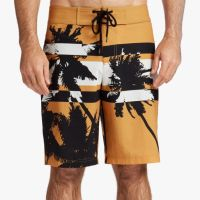 James Perse Y:Osemite Printed Palm Boardshort Cadmium $345