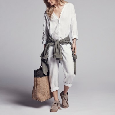 James Perse Canvas Linen Jumper $295