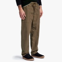James Perse Mixed Media Poplin Pant Army Green $265