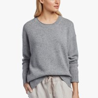 James Perse Oversized Cashmere Sweater Heather Grey $375