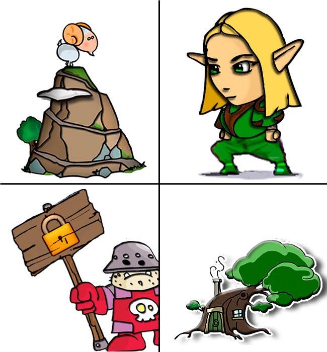 personajes del videojuego Under Siege Quest