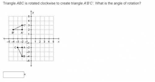 Triangle ABC is rotated clockwise to create triangle A'B'C