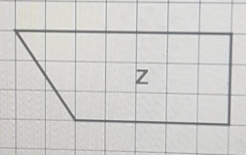 The diagram shows five shapes on a centimetre grid. a