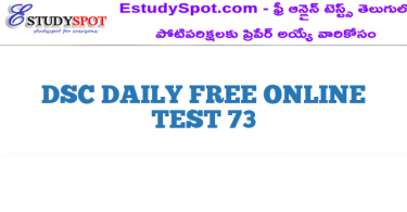 DSC DAILY FREE ONLINE TEST 73