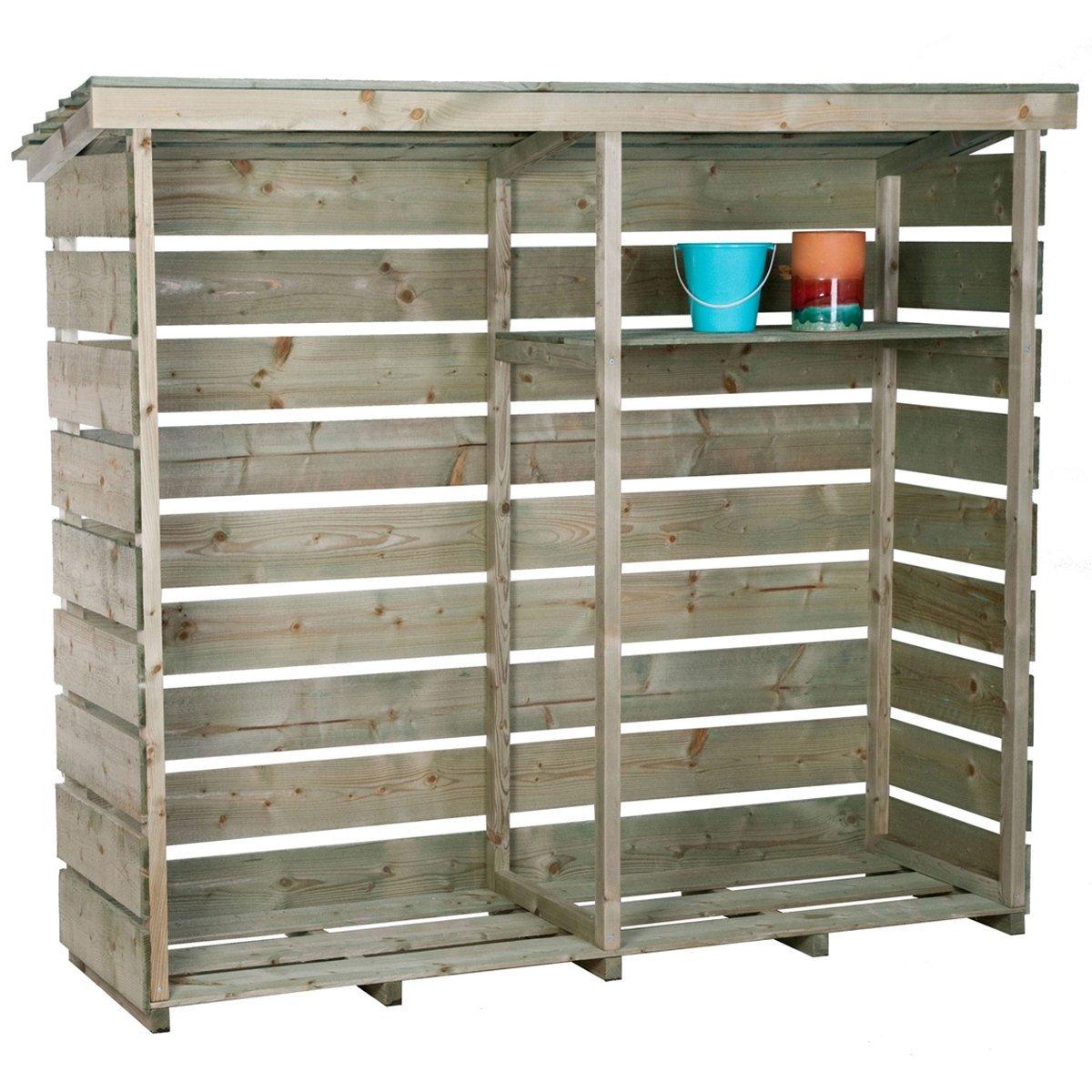 Leeros y cobertizos de exterior para almacenar lea
