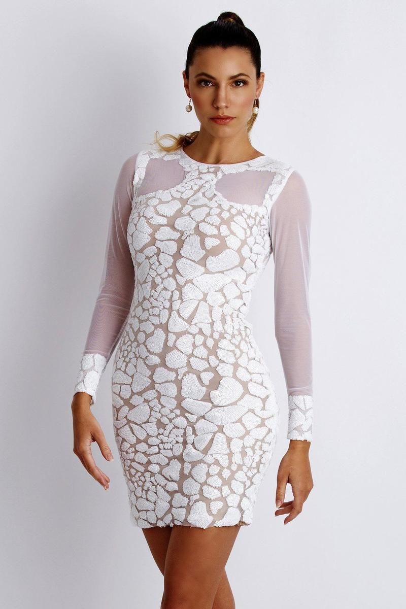sequin dress with mesh
