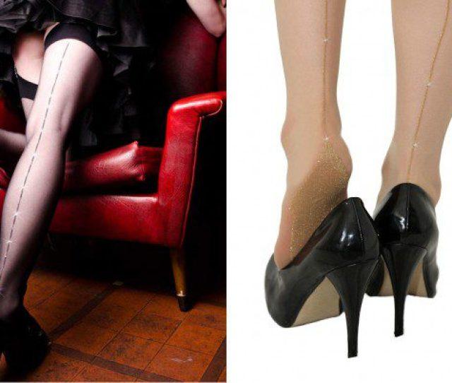 Glitter Seamed Stockings By Falbala X