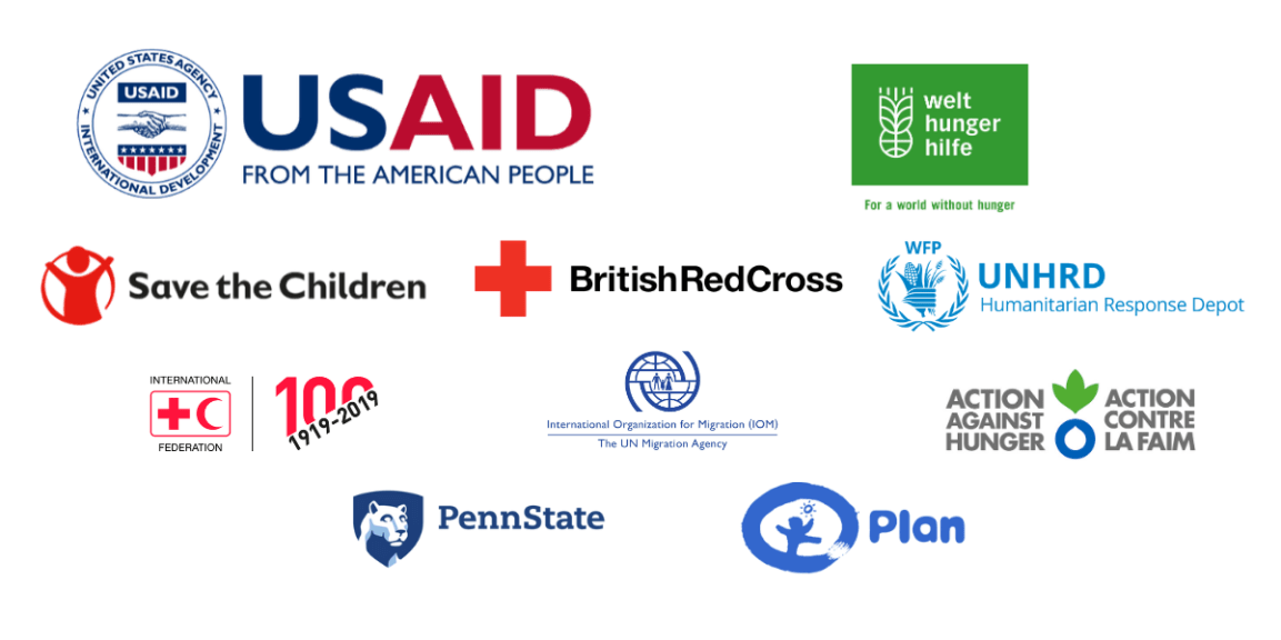 logos of members of Emergency Supply Pre-positioning Strategy (ESUPS) Steering Group