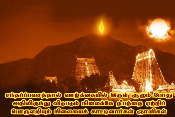 Arunachala Deepam - lights