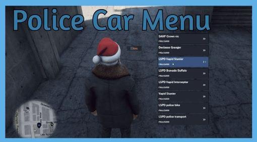 police car menu