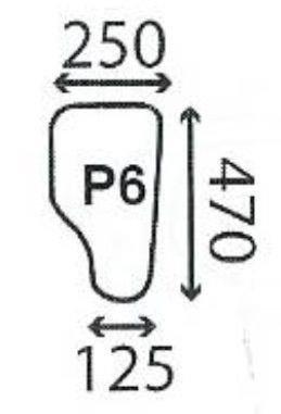szyba koparko-ładowarka Case 580, 590 K/LE/SLE/SUPER LE