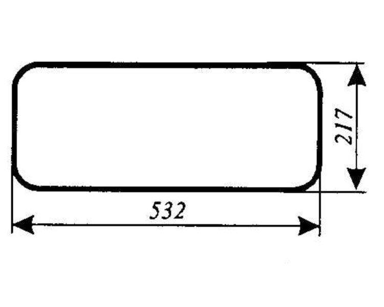 szyba do ciągnika Massey Ferguson serie 3000, 3100, 3600
