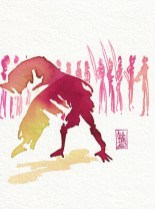 Encres : Capoeira – 327 [ #capoeira #watercolor #illustration]
