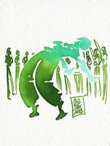 Encres : Capoeira – 332 [ #capoeira #watercolor #illustration]