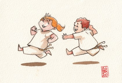 Encres : Capoeira – 344 [ #capoeira #watercolor #illustration]