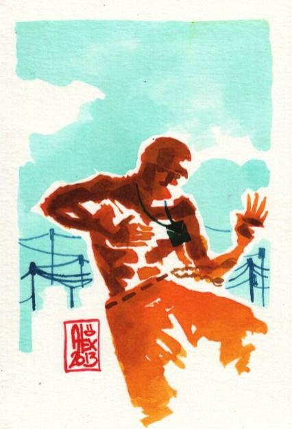 Encres : Capoeira – 361 [ #capoeira #watercolor #illustration]