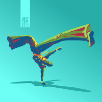 Illustration : Capoeira – 371 [ #capoeira #vectoriel #illustration]