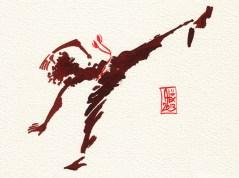 Encres : Capoeira – 382 [ #capoeira #watercolor #illustration]