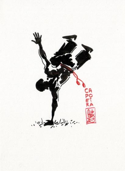 Encres : Capoeira – 386 [ #capoeira #watercolor #illustration]