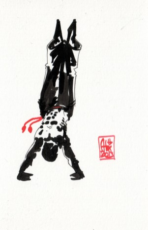 Encres : Capoeira – 392 [ #capoeira #watercolor #illustration]