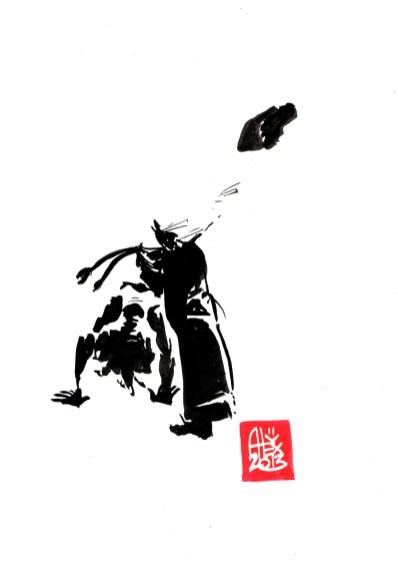 Encres : Capoeira – 462 [ #capoeira #watercolor #illustration] Encre sur papier 190gr / Ink on paper 190gr 14.8 x 21 cm / 5.8″ x 8.3″