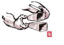 """Encres : Capoeira – 485 """"Agogo"""" [ #capoeira #watercolor #illustration] Encre sur papier 190gr / Ink on paper 190gr 21 x 29.7 cm / 8.3 x 11.7 in"""