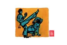 Encres : Capoeira – 498 [ #capoeira #watercolor #illustration] Encre sur papier 190gr / Ink on paper 190gr 14.8 x 21 cm / 5.8 x 8.3 in