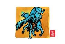 Encres : Capoeira – 499 [ #capoeira #watercolor #illustration] Encre sur papier 190gr / Ink on paper 190gr 14.8 x 21 cm / 5.8 x 8.3 in