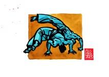 Encres : Capoeira – 504 [ #capoeira #watercolor #illustration] Encre sur papier 190gr / Ink on paper 190gr 14.8 x 21 cm / 5.8 x 8.3 in