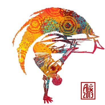 Encres : Capoeira – 527 [ #capoeira #digital #illustration] Illustration digitale / Digital painting