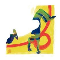 Encres : Capoeira – 532 [ #capoeira #digital #illustration] Illustration digitale réalisée avec GIMP/ Digital painting made with GIMP