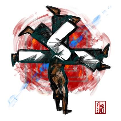 Encres : Capoeira – 540 [ #capoeira #digital #illustration] Illustration digitale réalisée avec GIMP/ Digital painting made with GIMP