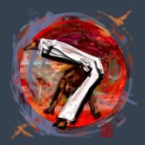 Encres : Capoeira – 545 [ #capoeira #digital #illustration] Illustration digitale réalisée avec GIMP/ Digital painting made with GIMP