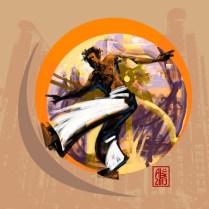 Encres : Capoeira – 546 [ #capoeira #digital #illustration] Illustration digitale réalisée avec GIMP/ Digital painting made with GIMP