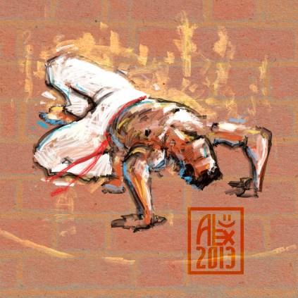 Encres : Capoeira – 548 [ #capoeira #digital #illustration] Illustration digitale réalisée avec GIMP/ Digital painting made with GIMP