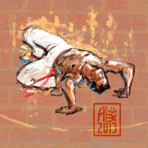 Encres : Capoeira – 548 [ #capoeira #digital #illustration] Illustration digitale réalisée avec GIMP/ Digital painting made with GIMP