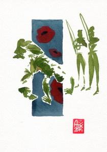 Encres : Capoeira – 561 [ #capoeira #watercolor #illustration] aquarelle sur papier 300gr / watercolor on paper 300gr 18 x 25 cm / 7.1 x 9.8 in