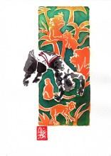 Encres : Capoeira – 573 [ #capoeira #watercolor #illustration] aquarelle sur papier 300gr / watercolor on paper 300gr 18 x 25 cm / 7.1 x 9.8 in