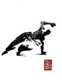 Encres : Capoeira – 585 [ #capoeira #watercolor #illustration] aquarelle sur papier 300gr / watercolor on paper 300gr 15 x 20 cm / 5.9 x 7.9 in