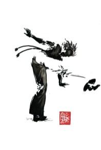 Encres : Capoeira – 591 [ #capoeira #watercolor #illustration] aquarelle sur papier 300gr / watercolor on paper 300gr 30 x 20 cm / 12 x 7.9 in