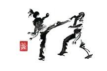 Encres : Capoeira – 603 [ #capoeira #watercolor #illustration] aquarelle sur papier 300gr / watercolor on paper 300gr 30 x 20 cm / 12 x 7.9 in